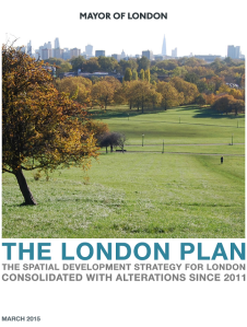 London Plan 2015 Cover Page
